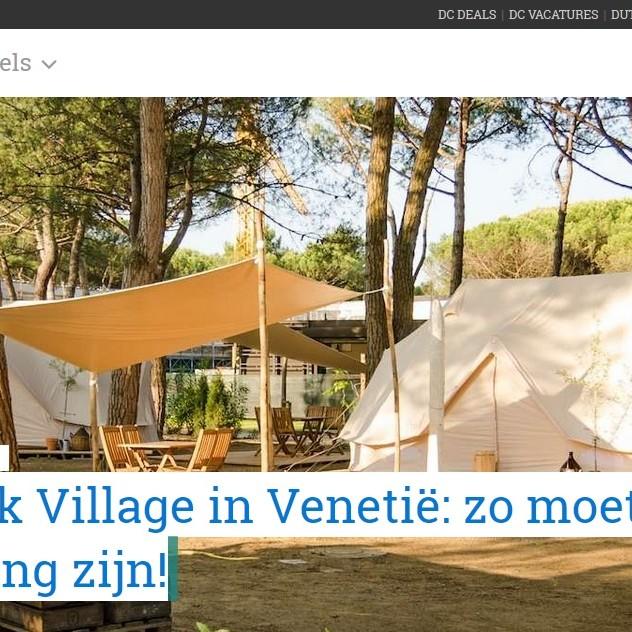 Nordisk Village in Venetië: zo moet glamping zijn!