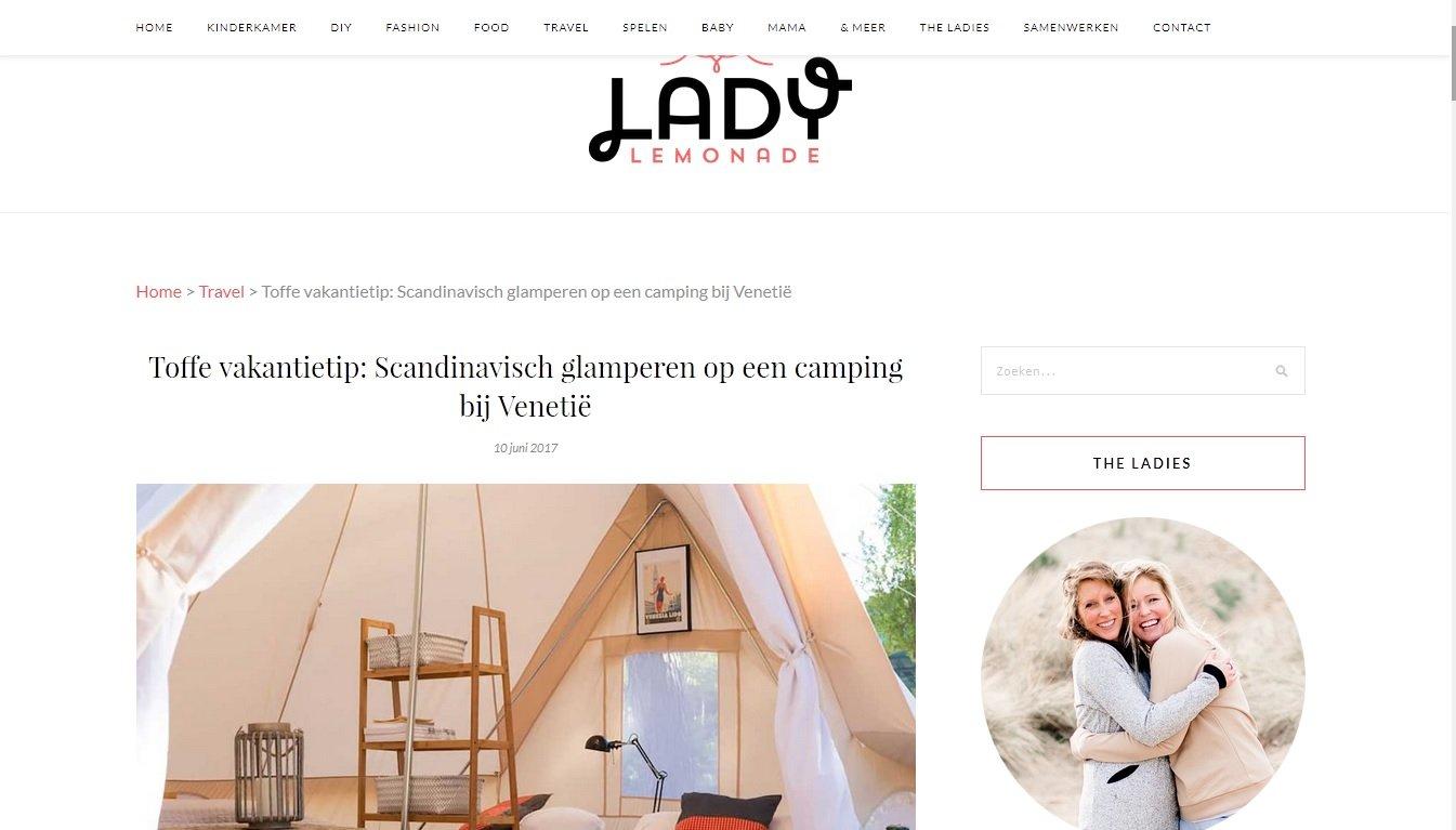 Toffe vakantietip: Scandinavisch glamperen op een camping bij Venetië